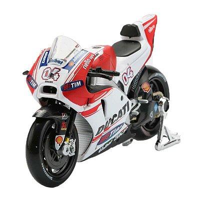 Miniatura Ducati Desmosedici MotoGP 2015 Piloto Andrea Dovizioso #04 Maisto 1:18