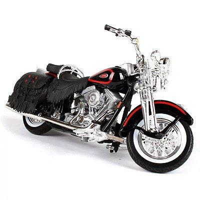 Miniatura Harley Davidson FLSTS Heritage Springer 1998 Maisto 1:18