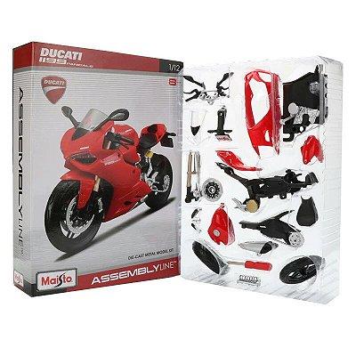 Miniatura Ducati 1199 Panigale Maisto 1:12 Kit de Montar