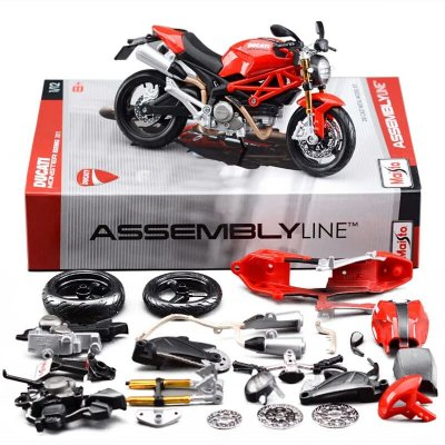 Miniatura Ducati Monster 696 Maisto 696 Assembly Line 1:12 Kit de Montar