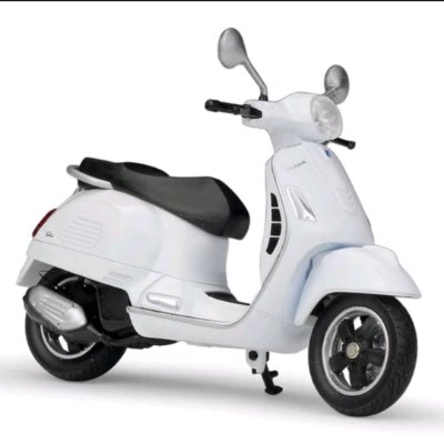 Miniatura Vespa GTS 125CC 2017 Welly 1:18 - Branco