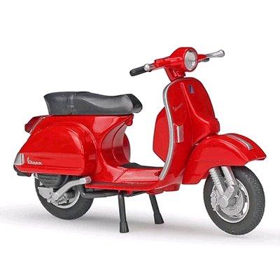 Miniatura Vespa PX 2016 Welly 1:18 - Vermelho