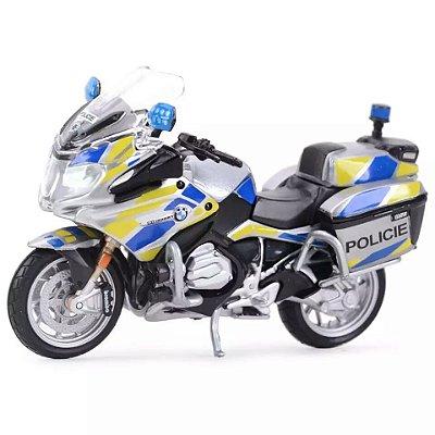 Miniatura BMW R 1200 RT 2016 Polícia Theca Maisto 1:18 - Lançamento 2020