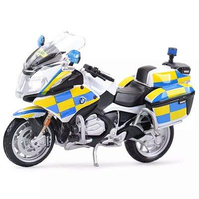 Miniatura BMW R 1200 RT 2016 Polícia Reino Unido Maisto 1:18 - Lançamento 2020