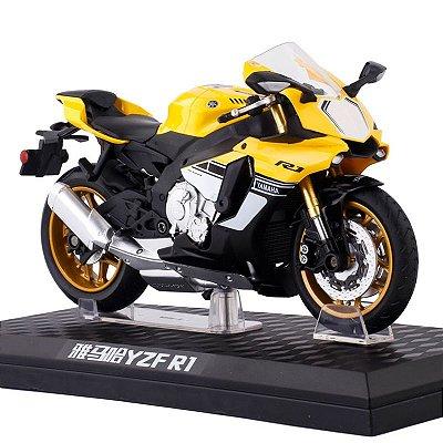 Miniatura Yamaha YZF-R1 Amarelo Caipo 1:12