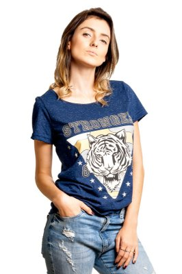 Camiseta Tigre Botonê Azul