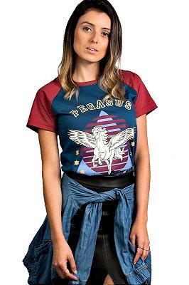 Camiseta Raglan Pegasus Azul Índigo