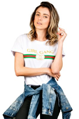 Camiseta Girl Gang Branca