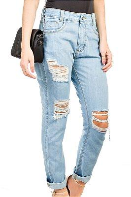 Calça Jeans Boyfriend Destroyed