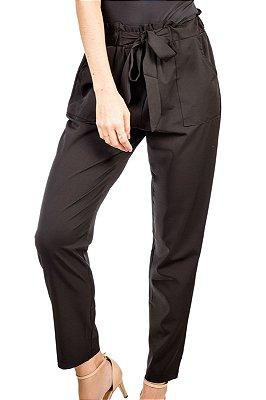 Calça de Tecido Amarração Preta