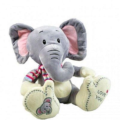 Pelúcia Elefante Com Cachecol 26cm