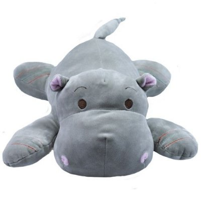 Pelúcia Hipopótamo Cinza Deitado