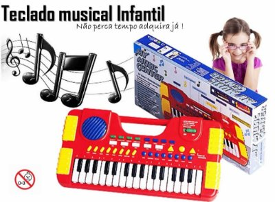 Teclado Infantil Musical Piano Center