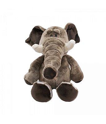 Pelúcia Elefante Marrom Safári 26cm