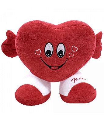 Pelúcia Coração Te Amo Vermelho 22cm