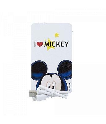 Carregador Portátil Branco I Love Mickey 2200mah
