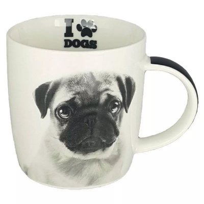 Caneca I Love Dogs Pug 320ml