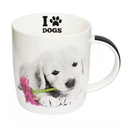 Caneca I Love Dogs Filhote Golden Retriever 320ml