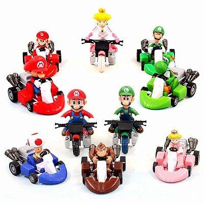 Conjunto 10 Bonecos Mario Kart