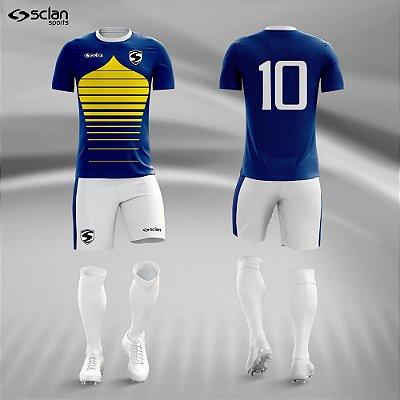 Jogo Camisa Futebol Ouro ss49