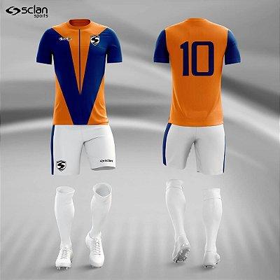 Jogo Camisa Futebol Ouro ss55