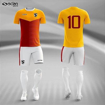 Jogo Camisa Futebol Ouro ss61