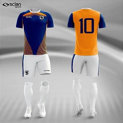 Jogo Camisa Futebol Ouro ss62