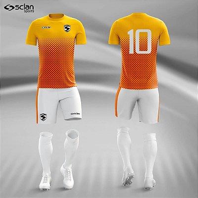 Jogo Camisa Futebol Ouro ss65