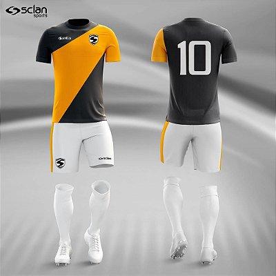 Jogo Camisa Futebol Ouro ss78