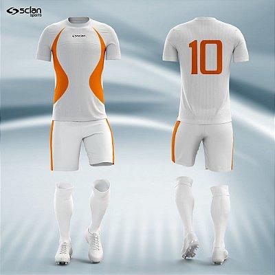 Jogo Camisa Futebol Prata ss25