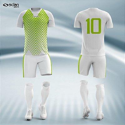 Jogo Camisa Futebol Prata ss26
