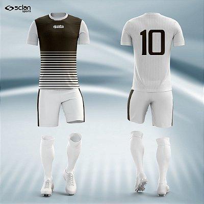 Jogo Camisa Futebol Prata ss27
