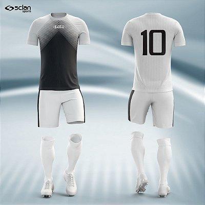 Jogo Camisa Futebol Prata ss28