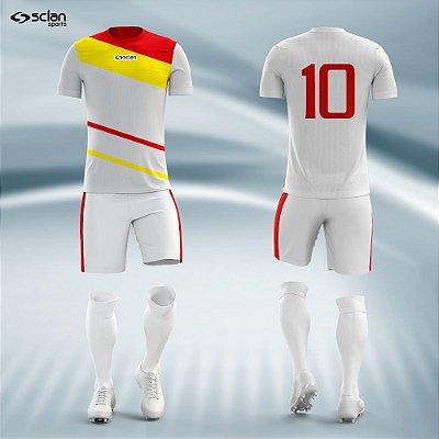 Jogo Camisa Futebol Prata ss29