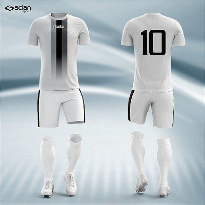 Jogo Camisa Futebol Prata ss30