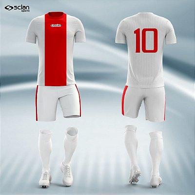 Jogo Camisa Futebol Prata ss31