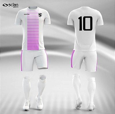 Jogo Camisa Futebol Prata ss38