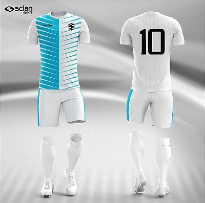 Jogo Camisa Futebol Prata ss40