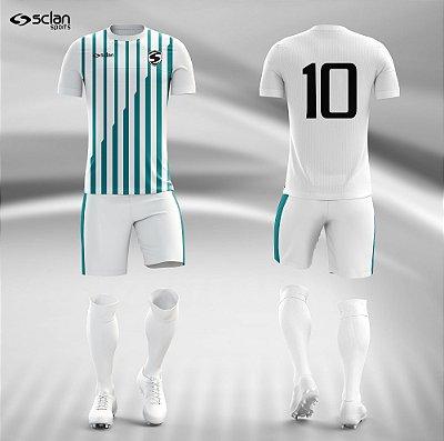 Jogo Camisa Futebol Prata ss41