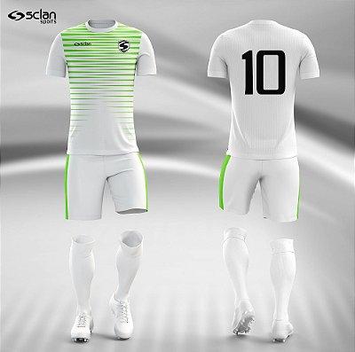 Jogo Camisa Futebol Prata ss44