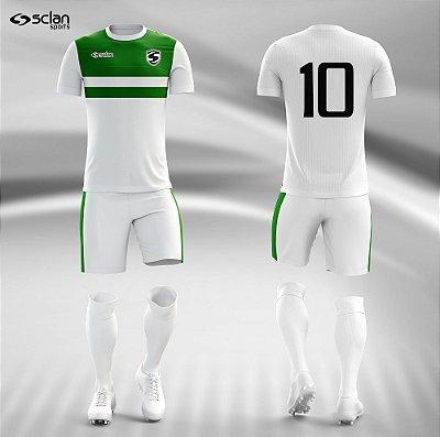 Jogo Camisa Futebol Prata ss45