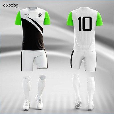 Jogo Camisa Futebol Prata ss84