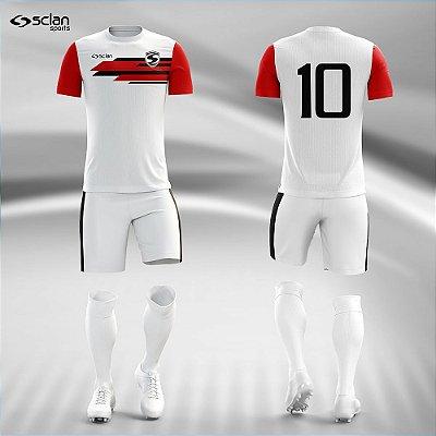 Jogo Camisa Futebol Prata ss87