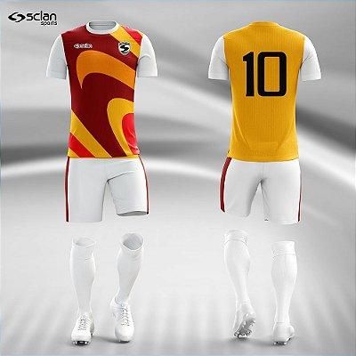 Jogo Camisa Futebol Ouro ss97