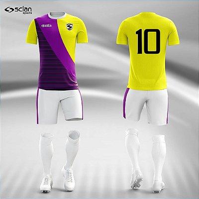 Jogo Camisa Futebol Ouro ss99