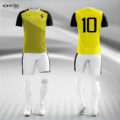 Jogo Camisa Futebol Ouro ss100