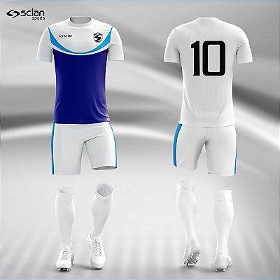 Jogo Camisa Futebol Prata ss101