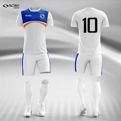 Jogo Camisa Futebol Prata ss102
