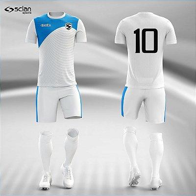 Jogo Camisa Futebol Prata ss103
