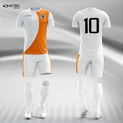 Jogo Camisa Futebol Prata ss104